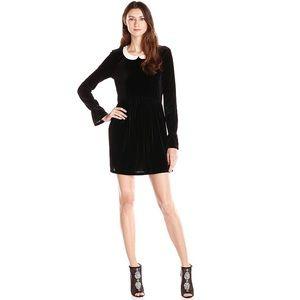 BCBGeneration Black Velvet Babydoll Dress